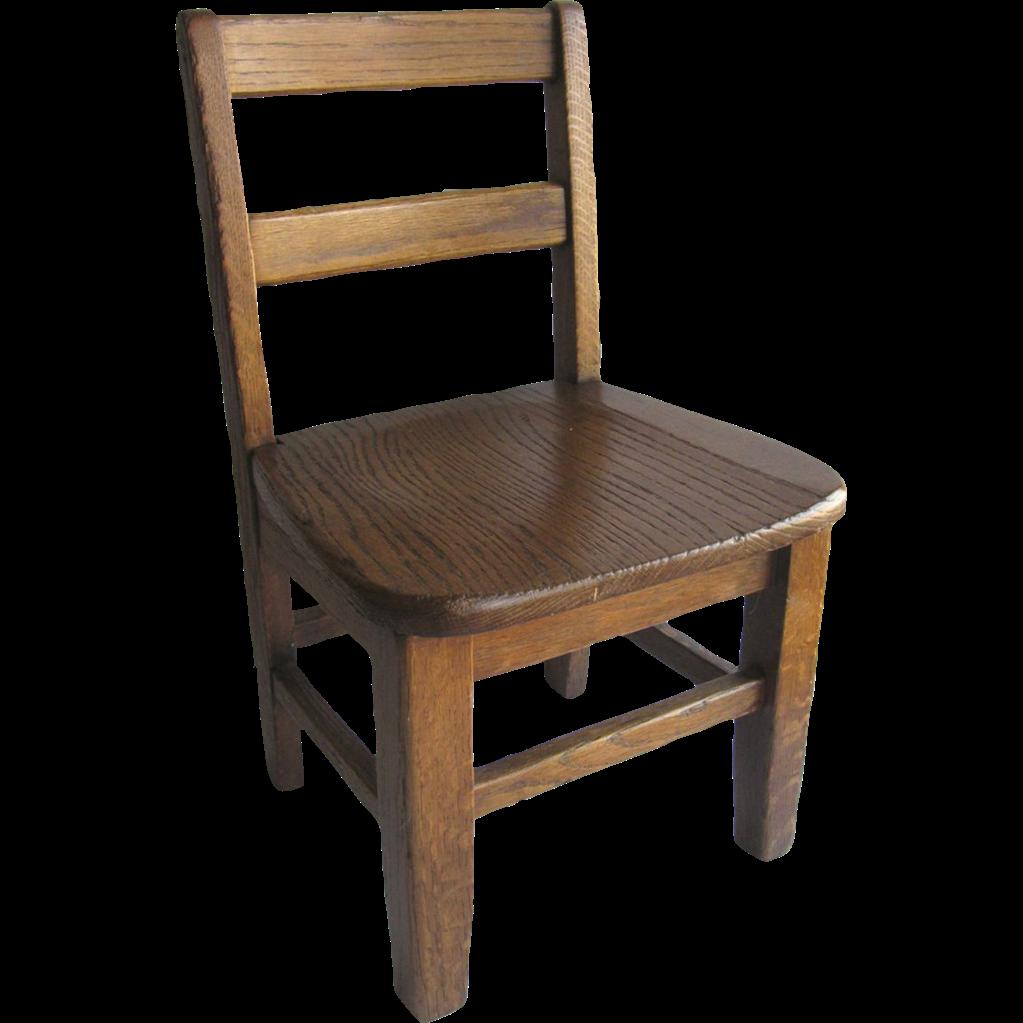 Vintage Oak Child's School Chair Sturdy from blacktulip on ...