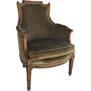 Louis XVI Arm Chair Bergere Fruitwood
