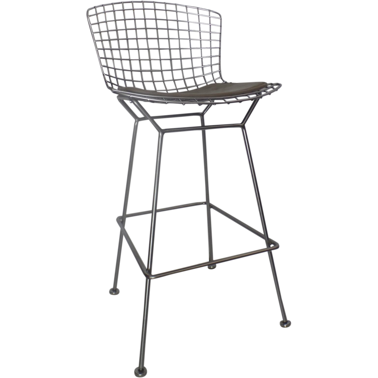 Vintage Tall Wire Bertoia Bar Chair By Knoll From