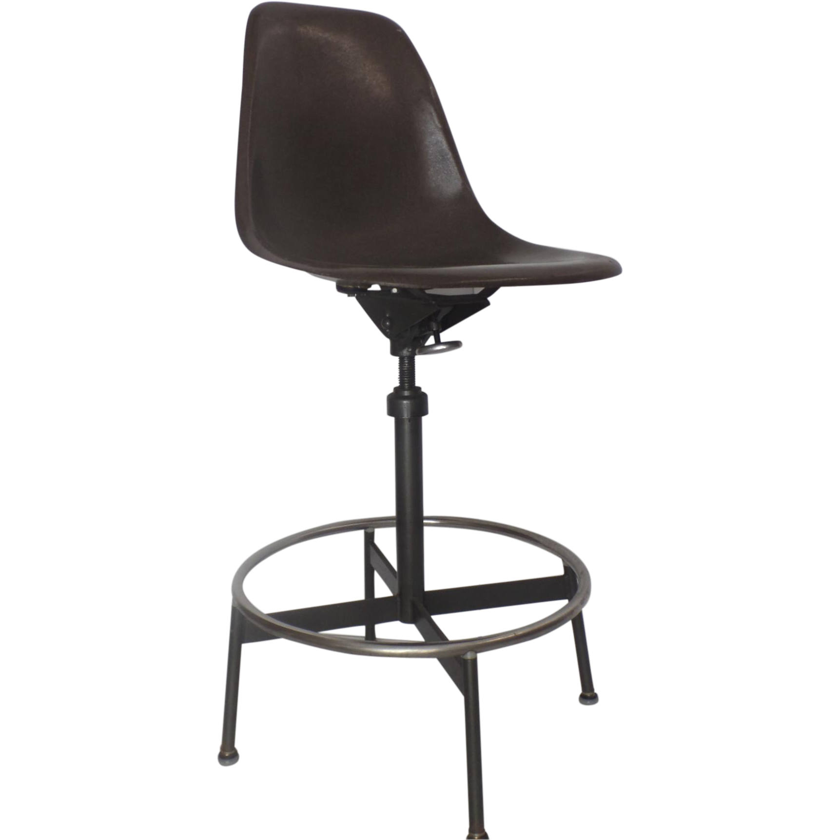 eames fiberglass shell drafting architects stool chair mid century from blacktulip on ruby lane. Black Bedroom Furniture Sets. Home Design Ideas
