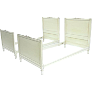 Pair 19th Century French Neoclassical Painted Twin Beds