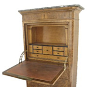 French Walnut Secretaire Abutant Desk Fall Front Fitted Interior