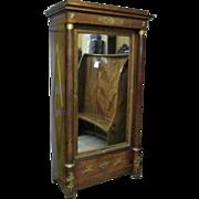 French Empire Mahogany One Door Wardrobe Armoire Cabinet Ormolu Mounts Cherubs Angels