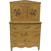 Child's Grain Painted Cottage Furniture Cabinet c 1868