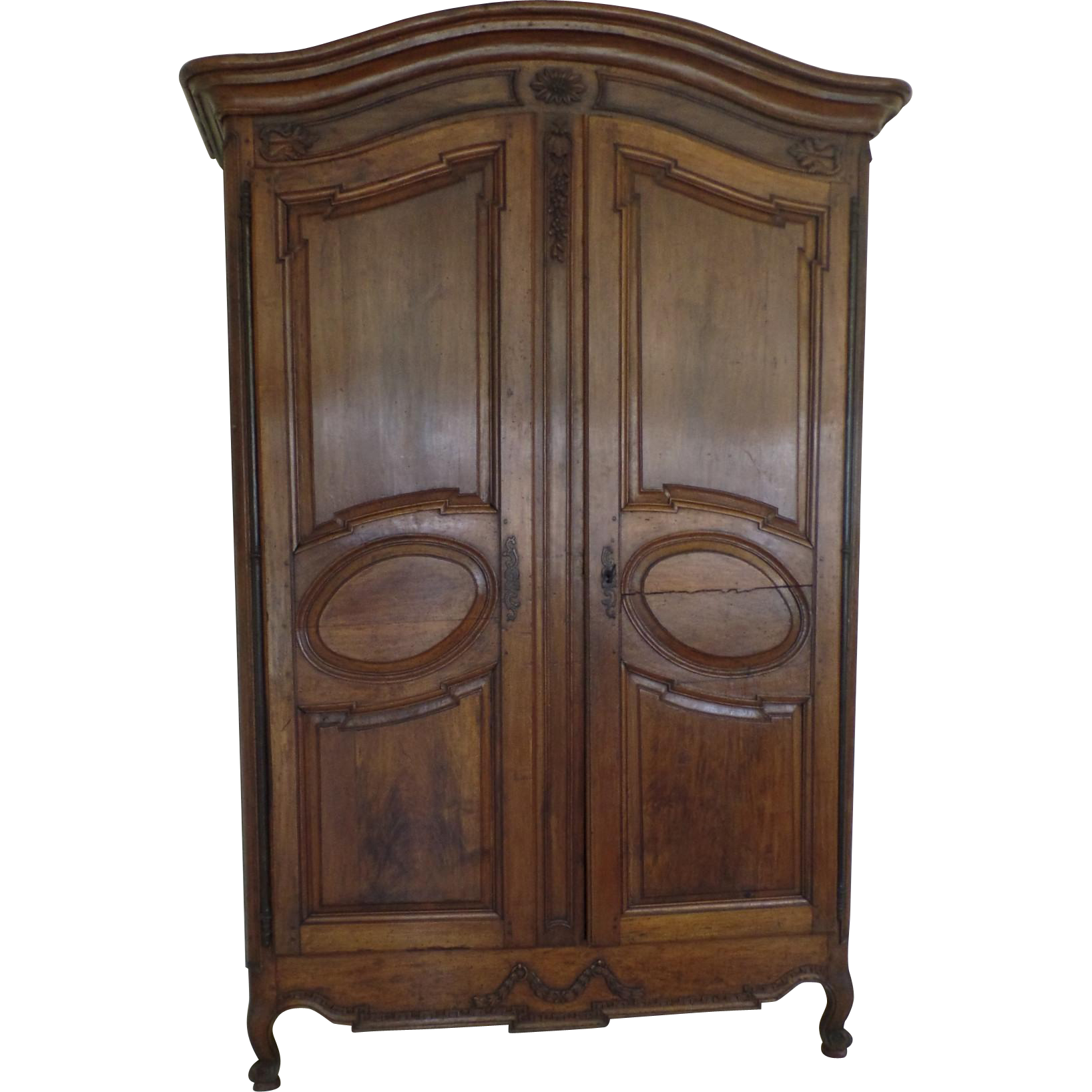 louis xv grand walnut armoire provence 18th century from. Black Bedroom Furniture Sets. Home Design Ideas