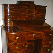 Northern Italian Baroque Walnut Desk c 1760