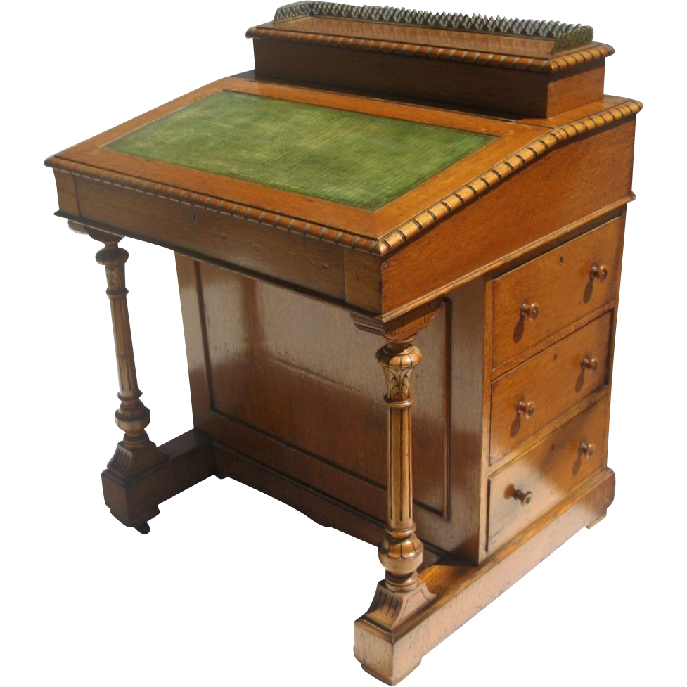 English Davenport Desk C 1860