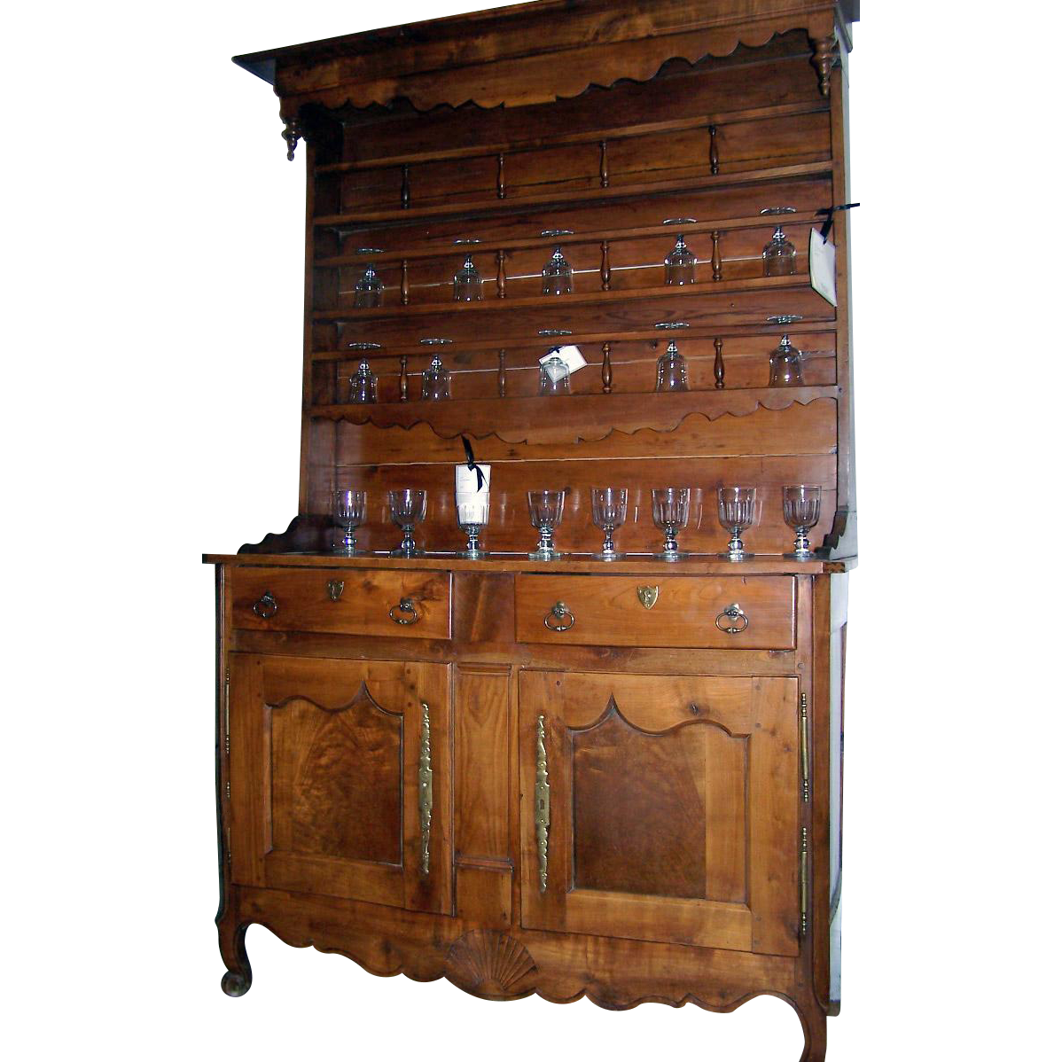 french elm vaisselier cupboard dresser cabinet 19th century from blacktulip on ruby lane. Black Bedroom Furniture Sets. Home Design Ideas