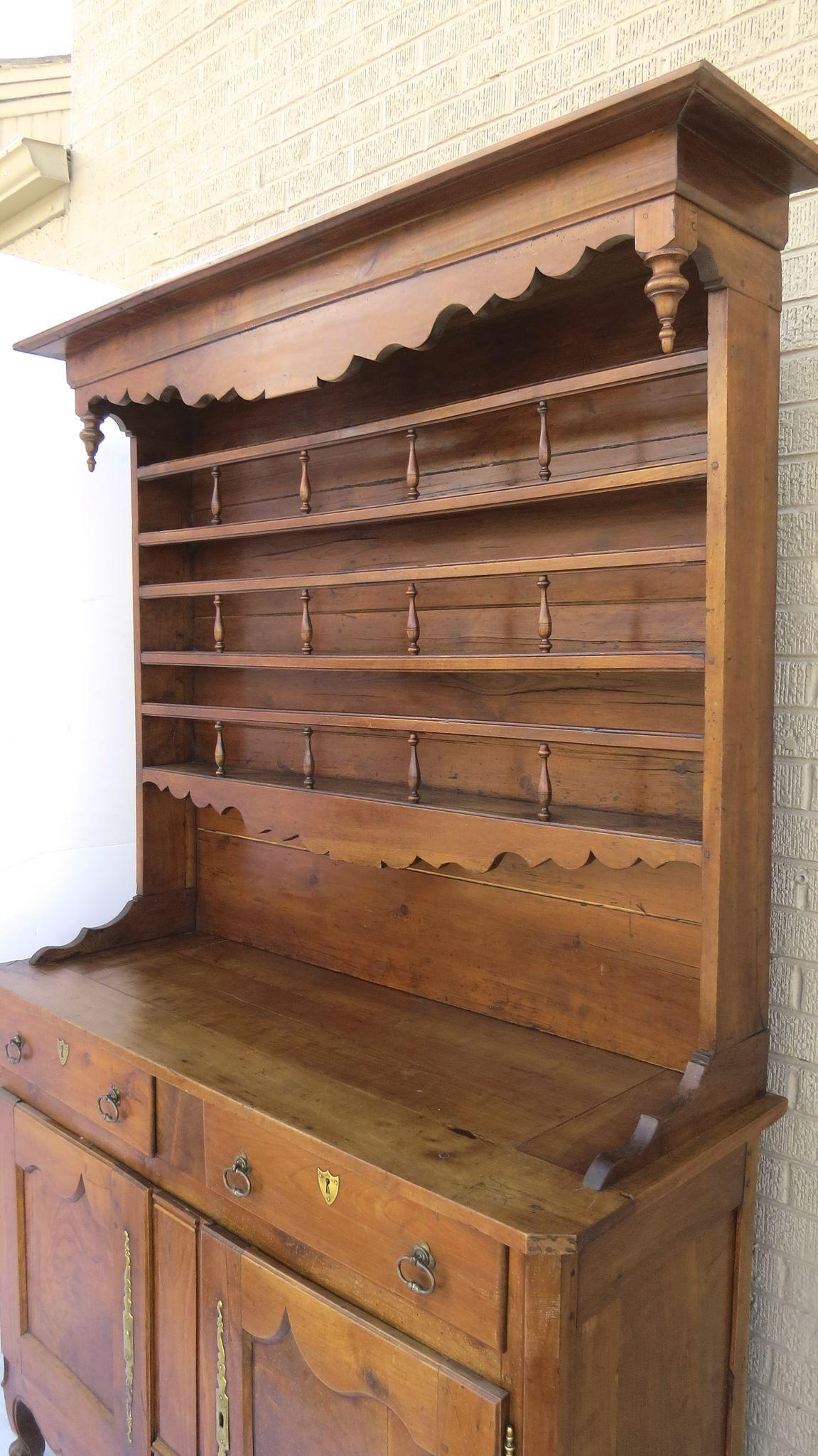 Dresser With Cabinet French Elm Vaisselier Cupboard Dresser Cabinet 19th Century From