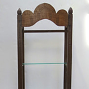 Philippine Carved Pillow Rack Bookcase Stand Narrow