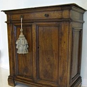 Italian Walnut Small Cupboard 18th Century