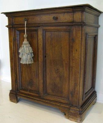 Italian Walnut Small Cupboard 18th Century