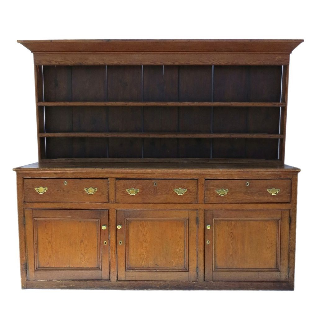 English pine dresser and rack base sideboard from for Sideboard pinie