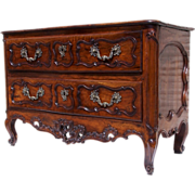 French Provencal  two drawer walnut commode (Languedoc region)
