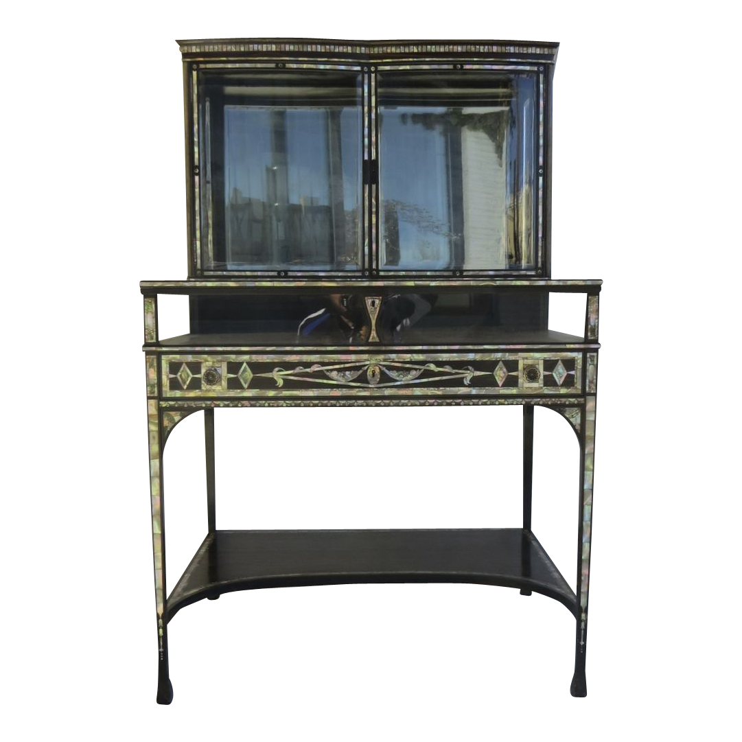 #7C794F French 19th Century Rosewood And Mother Of Pearl Vitrine  with 1081x1081 px of Best Glass Display Cases Denver 10811081 image @ avoidforclosure.info