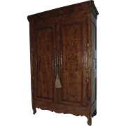French Elm Armoire c 1840