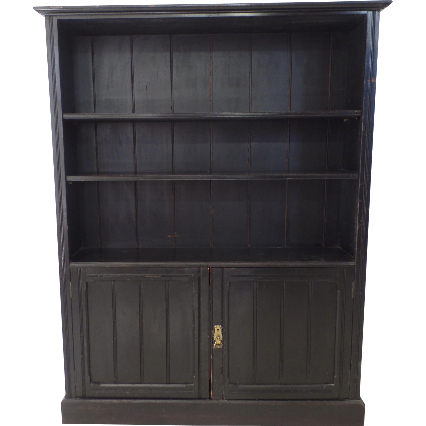 Very Impressive portraiture of Arts & Crafts Ebonized Black Narrow Bookcase Cupboard c 1900 from  with #847047 color and 1697x1697 pixels