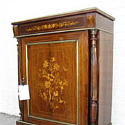 French Rosewood Marquetry inlaid Cabinet
