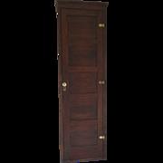 Tall Narrow Panel One Door Cabinet Brass Hinges