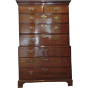 English Walnut Chest on Chest 18th Century