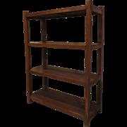 Large Vintage Teak Open Shelves Storage Shelving Rack