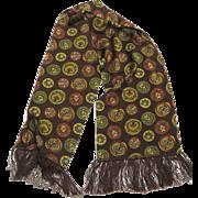 Wonderful Dress Scarf Great Pattern Long Fringe