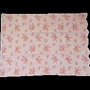 Vintage Fine Quality Pink Linen Pillowcase Scalloped Edge King