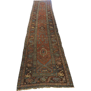 "Vintage Persian Runner Well Worn 162"" Long"