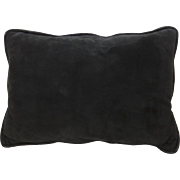 Vintage Small Black Suede Cushion Pillow