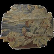 Vintage Old Tapestry Fragment Very Worn Study or Restoration Bird