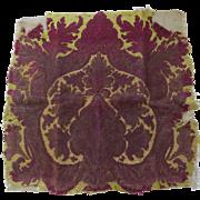 Older Vintage Needlepoint Piece Fragment