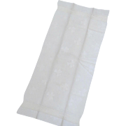 """Large Vintage Linen Towel Shamrock Clover Embroidered """"B"""""""