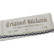 "Vintage German Germany Cotton Scalloped Trim ""Original Stickerei"" in Package"