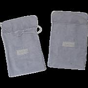 Two Vintage Georg Jensen Cloth Storage Bags