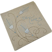 Handmade Embroidered Folder Case Book for Dollies Doylies Linen 1900's