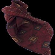 "Ralph Lauren 100% Silk 21"" Pocket Square Scarf  Western Motif"