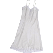 Vintage Najla New York Full Slip Lace Embroidered Size 32
