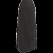 Vintage Grey Wool Maxi Skirt Neusteters, Denver Classic