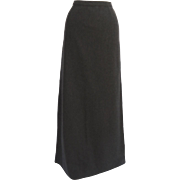 Vintage Grey Wool Maxi Skirt Neusteters, Denver Classic