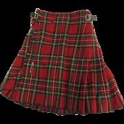 "Vintage ""Scotch House"" Kilt Stewart Tartan"