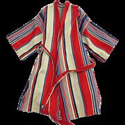 Alexander Shields Designer Vintage 1960's Beach Bed Robe Stripe