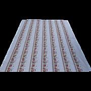"Pierre Deux Features Les Olivades Fabric Provencal ""Bandes Fruchies"" Pink White Fruit"