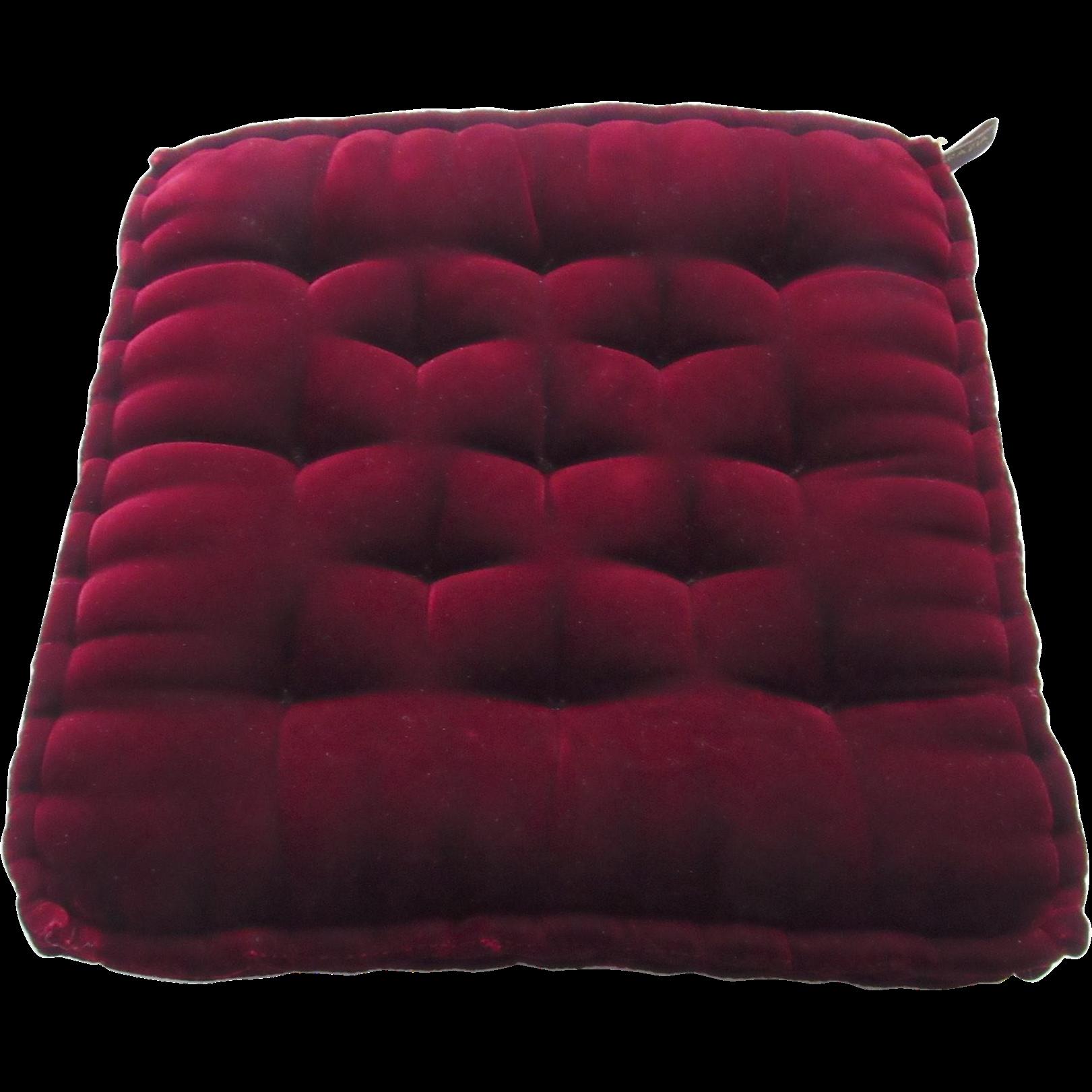 Vintage Square Velvet Tufted Grazia Bagnaresi Pillow Italy