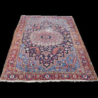 Persian Heriz Rug Circa 1890-1910