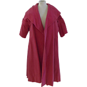 Vintage Ladies Swing Hot Pink Velvet Evening Coat, Dress, Formal 1950's, 1960's Bramson Oak Park, Evanston, Chicago, Palm Beach