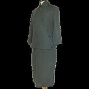 Vintage Chinese Hong Kong Qipao Cheongsam Dress ans Jacket 1950's Custom made Frank L. Chan