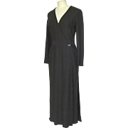 100% Cashmere Chanel Long Sleeve Long Dress