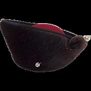 Vintage Adolfo II Wool Hat Matching Hat Pin