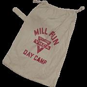 Vintage Flour Sack Canvas Day Camp YMCA Kettering Bag