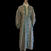 19th Century Women's Coat Dress Paisley Cotton